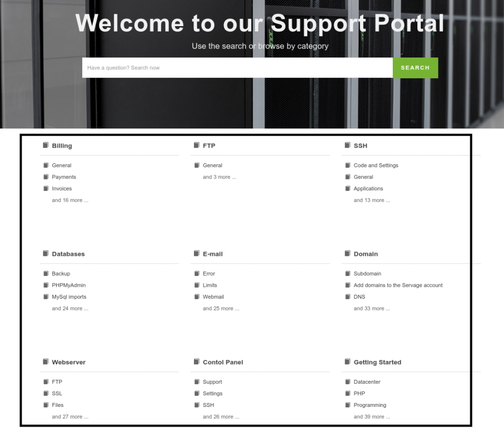Screenshot_2021-03-03 Welcome to our Support Portal